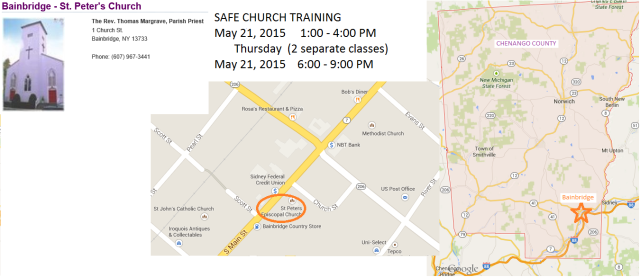 SAFEchurchtrainingMAY2015